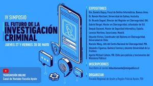 A finales de mayo realizarán simposio internacional sobre ciberdelitos, ciencia e investigaciones transnacionales